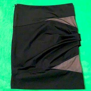 Alexander Wang pencil skirt gathered left side,shirt zipper right top side